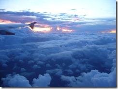 Auringonlasku lentokoneesta käsin