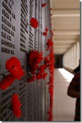 Ensimmäisessä maailman sodassa kuolleden muistoseinä
