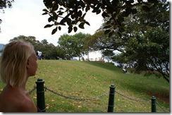 Krista katsomassa Sydneyn Oopperatalolle