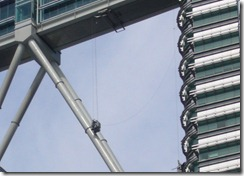 Petronas Twin towersin pesijä läheltä