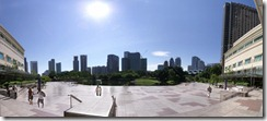 Petronas Twin towersin takapiha