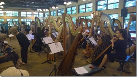 50 harpun konsertin harjoitussoitto