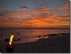 Illallisen auringonlasku